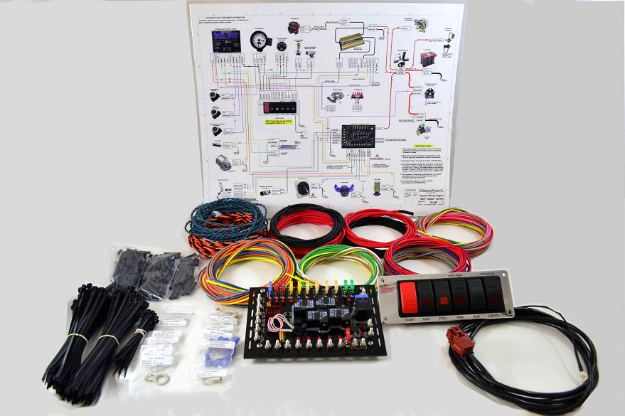 super duty complete wiring kit k r performance engineering. Black Bedroom Furniture Sets. Home Design Ideas